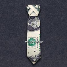 DRESS SHIRT TIE Money Origami