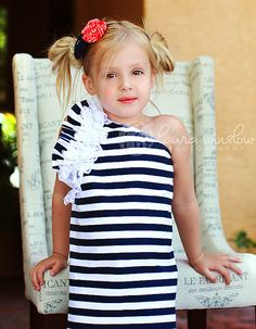 Oh Nautical Baby One Shoulder Dress by Little by LittleWellies, $39.95