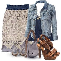 Pencil Lace Skirt by wulanizer on Polyvore
