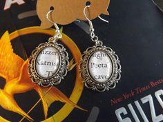 Hunger Games Earrings Katniss and Peeta by LilShopofHodgePodge, $8.00