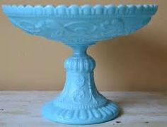 French Portieux Vallerysthal Milk Glass Pedestal by HauteBlooded, $125 ...