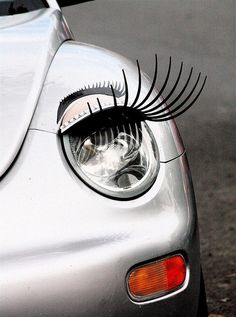 VW Bug - the only car on which eyelashes are