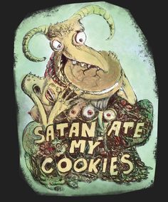 #beerlabel #satanatemycookies #beer #label