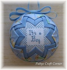 Quilted keepsake Ornament  It's A Boy / Teddy by PattysCraftCorner, $15.00