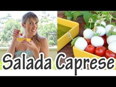 Salada Caprese no palito | Receitas e Temperos