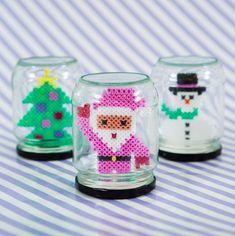 Hama Beads Design, Diy Perler Beads, Perler Bead Art, Noel Christmas, Christmas Crafts For Kids, Holiday Crafts, Bead Crafts, Diy And Crafts, Kids Crafts