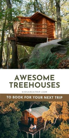 If you think fall is the perfect time for a glamping trip, you are absolutely correct! These treehouse rentals offer stunning views of changing leaves and a destination away from the crowds. Here are some of our favorite glamping treehouses for your next trip! - Kids Are A Trip |glamping|glamping ideas|treehouse rentals|fall getaway