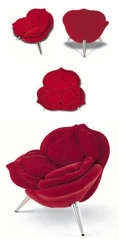 Masanori Umeda Rose Chair - Rose-shaped, it can be seen as a haute couture item.