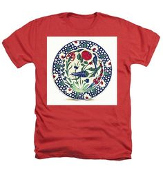 An Ottoman Iznik Style Floral Design Pottery Polychrome, By Adam Asar, No 1a - Heathers T-Shirt