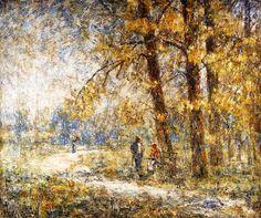 Park in Weimar.  Christian Rohlfs (1849 - 1938)