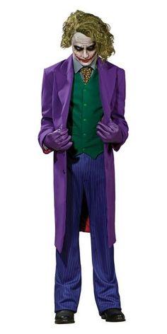 The Joker Costume for Halloween. Joker costume from Batman the Dark Knight. The Joker is the criminal mastermind of Gotham City and mortal enemy of Batman. Halloween Kostüm Joker, Halloween Fancy Dress, Adult Halloween, Halloween Costumes, Halloween Party, Knight Halloween, Purple Halloween, Spirit Halloween, Halloween Halloween