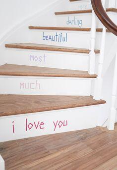 Washi Tape Stair DIY