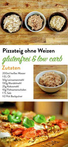 Pizzateig ohne Weizen - Low Carb Rezept - schnell und einfach - ballaststoffreich - Pizzateig mit Leinsamenmehl - gesund und lecker - Pizzateig selber machen ohne großen Aufwand - Pizzateig ohne Mehl - Pizzateig gesund selber machen -