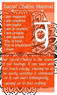 Sacral chakra mantras #reiki