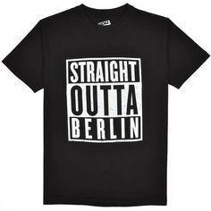kickz Straight Outta Berlin T-Shirt black
