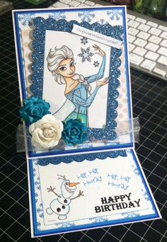 Frozen Easel Birthday Card