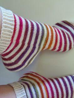 Lankaterapiaa: Kantapään kautta - Stripy socks again