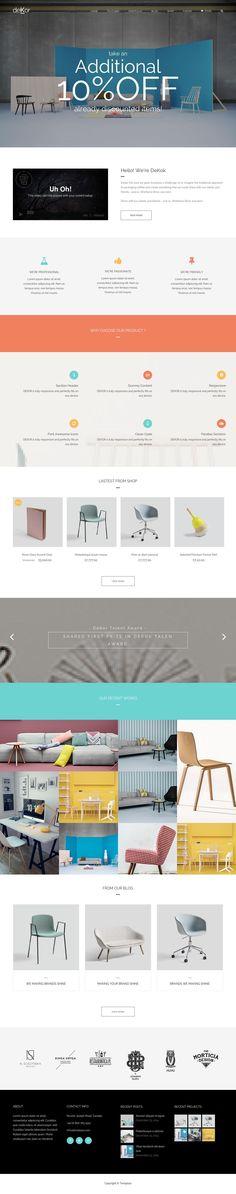 Retail Websites, Desktop Screenshot