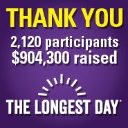 2,120 participants raised almost a million $ to help END Alzheimer's on The Longest Day www.alz.org/thelongestday