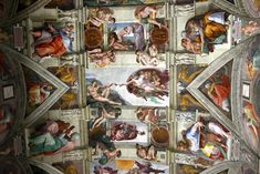 Michelangelo - Ceiling frescoe in the Sistine Chapel, 1512 - The Vatican Rome Italy Le Vatican, Miguel Angel, Rome Florence, Visiting The Vatican, Sistine Chapel Ceiling, Rome Tours, St Peters Basilica, Rome Italy, Fresco