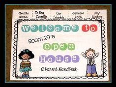 Editable Back to School/Open House Parent Flip Books - 3rd Grade w/ CCSS $