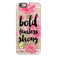 iPhone 6 Plus/6/5/5s/5c Case - Bold fearless strong floral (305 GTQ) ❤ liked on Polyvore featuring accessories, tech accessories, phone cases, phones, iphone case, floral iphone case, apple iphone cases and iphone cover case