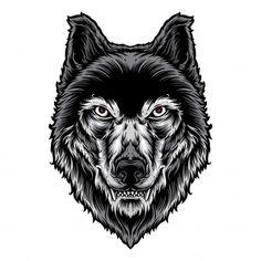 Inksyndromeartwork - Freepik Head Tattoos, Wolf Tattoos, Wolf Illustration, Graffiti Cartoons, Find Logo, Tattoo Graphic, Tattoo Project, Anime Wolf, Vector Photo
