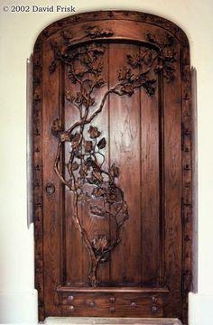 Wine cellar door, www.davidfrisk.com