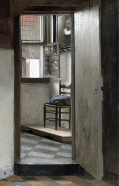 Pieter de Hooch - Woman with a Child in a Pantry (c. 1656). Detail.