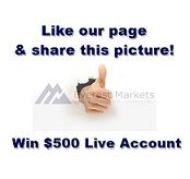 1 Facebook Like = $500 Live account? Read to know how..