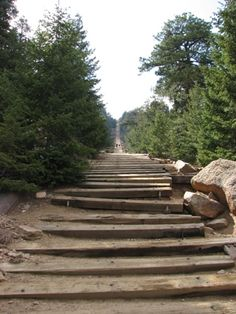 Manitou Springs Incline is where my son likes to exercise.