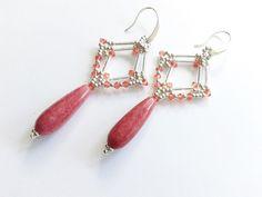 Jade - Halbedelstein Ohrringe mit Swarovski Kristallen - ein Designerstück von tizianat bei DaWanda