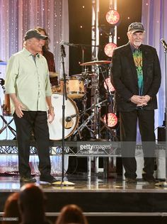 Musicians Bruce Johnston and Mike Love of The Beach Boys perform onstage during the Hollywood Walk of Fame Honors at Taglyan Complex on October 25, 2016 in Los Angeles, California.