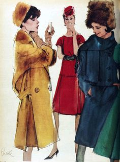 1962 fashion illustration