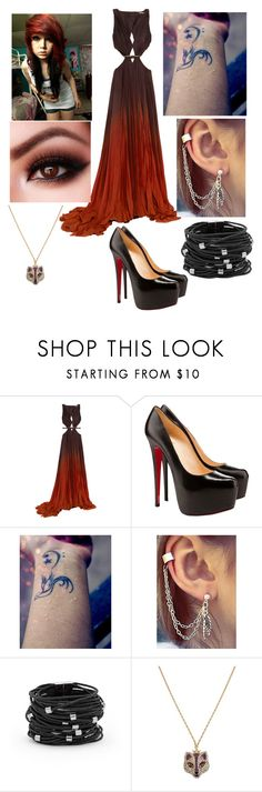 """""""Untitled #32"""" by darkcreator ❤ liked on Polyvore featuring Roberto Cavalli, Christian Louboutin, Chico's, Betsey Johnson, women's clothing, women's fashion, women, female, woman and misses"""