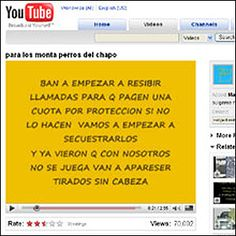 Narcomanta en internet (Foto: Cortesía El Ágora de Chihuahua)