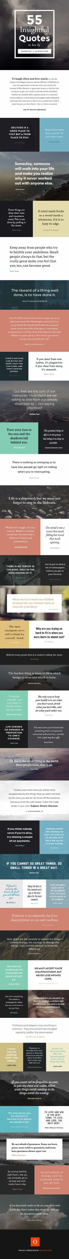 Get inspired by over 50 #quotes from famous #writers, visualized by Quotery