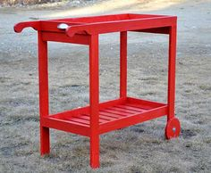 Rolling bar cart/BBQ cart with a removable tray