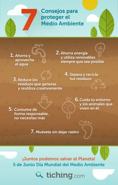 La Semana de la Educación Ambiental: 7 consejos para proteger el Medio Ambiente | Blog de Tiching