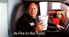 Funny Pictures From The Office | the office funny gif fire in the hole fire in the hole gif dwight ...