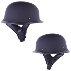 HCI-115 Half Helmet German-Matt Black (Medium)