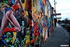 Comic Book Mural Nob Hill