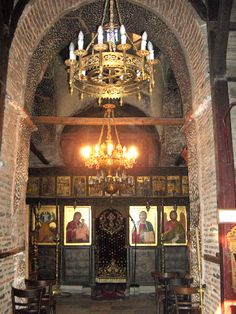 XIV sec Church Interior, Byzantine Art, Religious Images, Episcopal Church, The Beautiful Country, Macedonia, Orthodox Christianity, Knights Templar, Iglesias