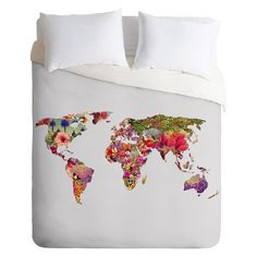 DENY Designs Its Your World Lightweight Duvet Cover. $160 Target (with mexican throw?)