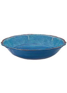 Antiqua Blue Melamine Salad Bowl from Le Cadeaux at Art Effect