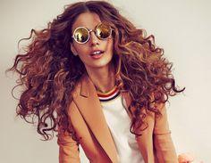 red curly long bouncy hair