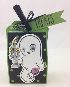 The Stamp Camp - Glenda Calkins Fun Stampers Journey Coach Ghostly Treats Treat Holder