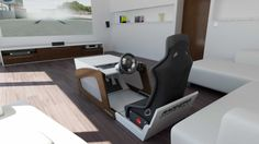 Simulator Cockpit als Couchtisch Arch Interior, Interior Design, Car Part Art, Bartop Arcade, Racing Seats, Automotive Decor, Repurposed, Photo Galleries, Minimalist