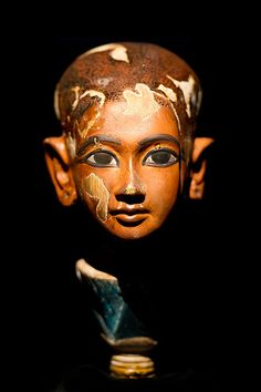 "Tutankhamon as a child from his tomb. Sometimes called a ""reserved head""."