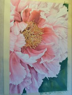 Jacqueline Coates took her passion for painting huge, luscious flowers into an amazing business and lifestyle - inspirational! Art Floral, Watercolor Flowers, Watercolor Paintings, Watercolors, Peony Painting, Botanical Art, Flower Art, Beautiful Flowers, Art Projects